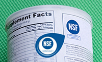 NSF mark on product