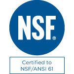 Certified to NSF/ANSI 61 Mark