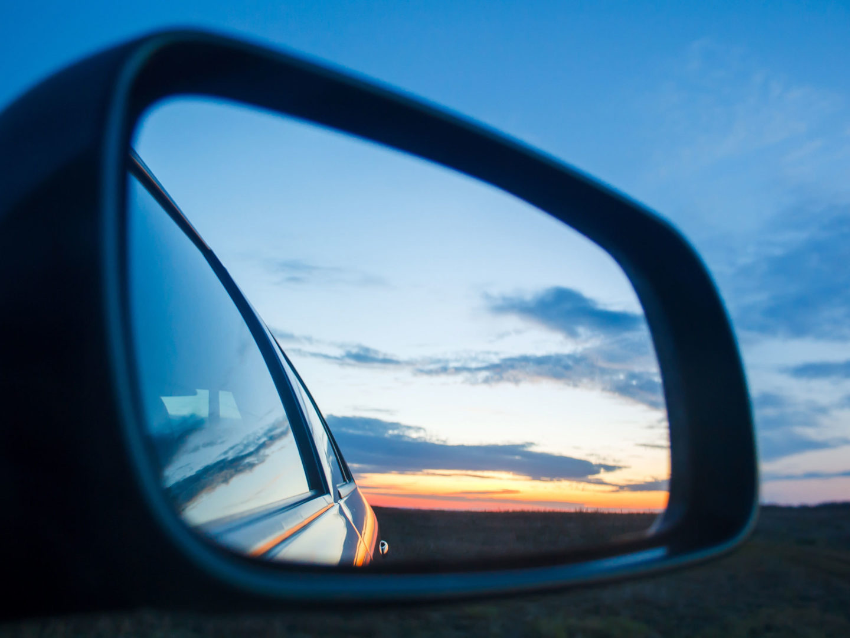 Blue Landscape Sunset Reflect in Car's Mirror - Automotive & Aerospace   NSF International