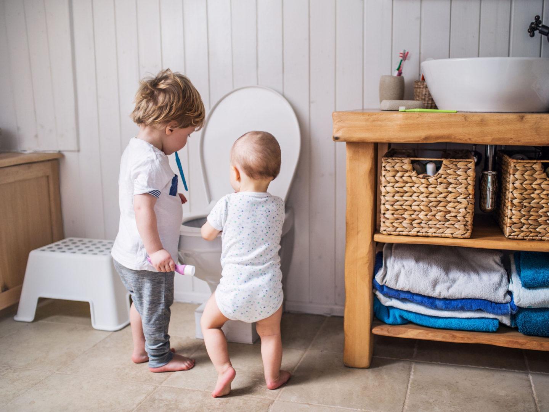 Children in bathroom - Wastewater and Sewage Treatment   NSF International