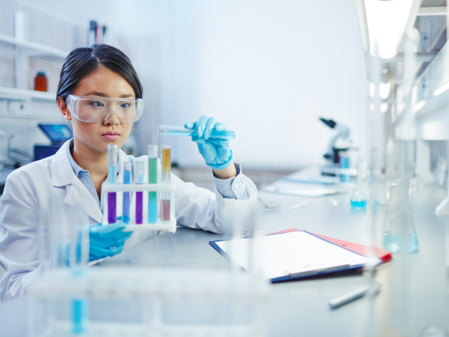 Woman in the lab - Environmental and Health Safety Certifications