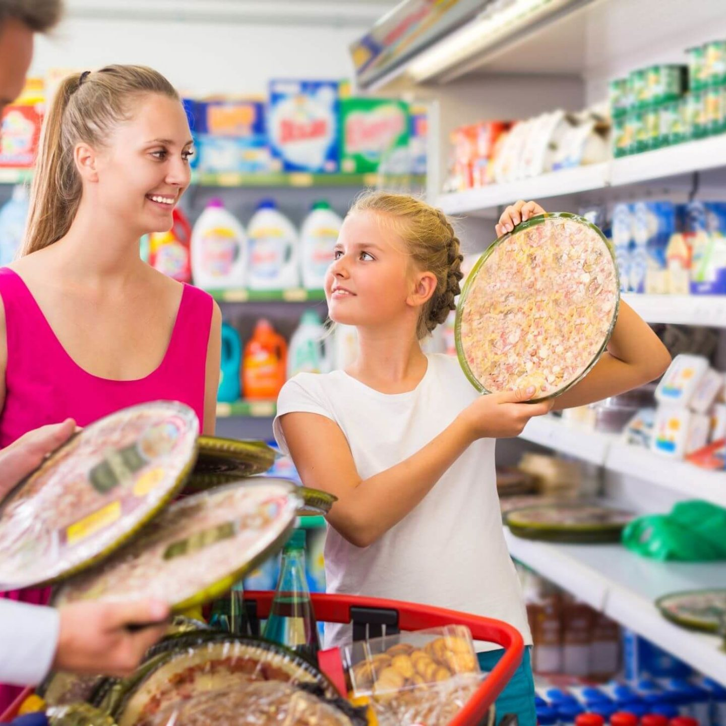 Family picking out pie in store - Getting to the Truth About Gluten: Everything You Need to Know   NSF International