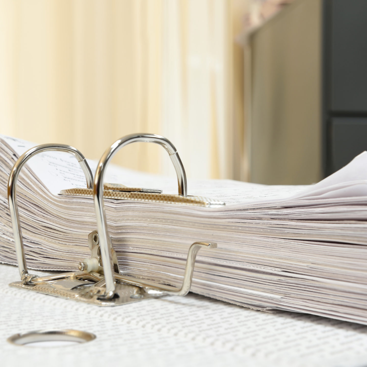 Papers with binder clips