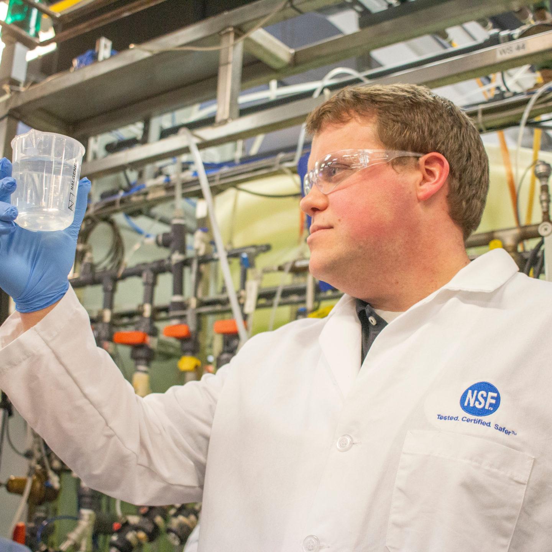 NSF scientist in lab
