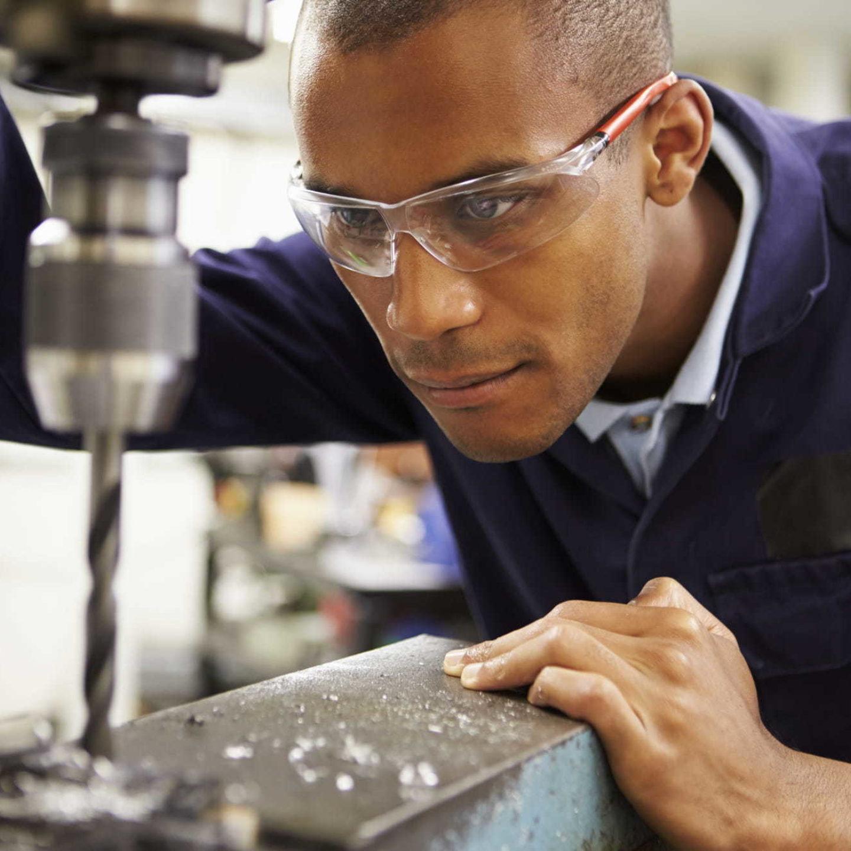 Man using Technicut Tool in factory - Technicut Tool (TCT) Utilizes QMS to Remain Agile | NSF ISR