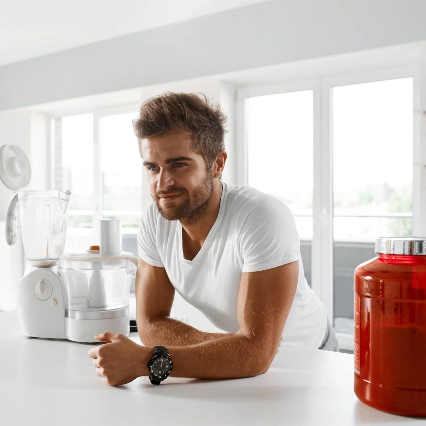 A man with muscular body drinking sports drink - Things to Know about Taking Supplements Safely | NSF International