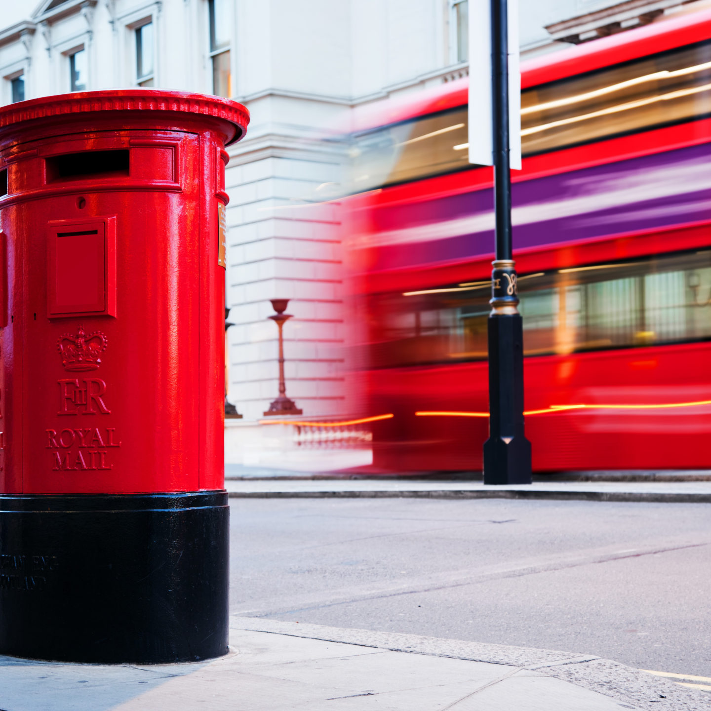 Red UK post box