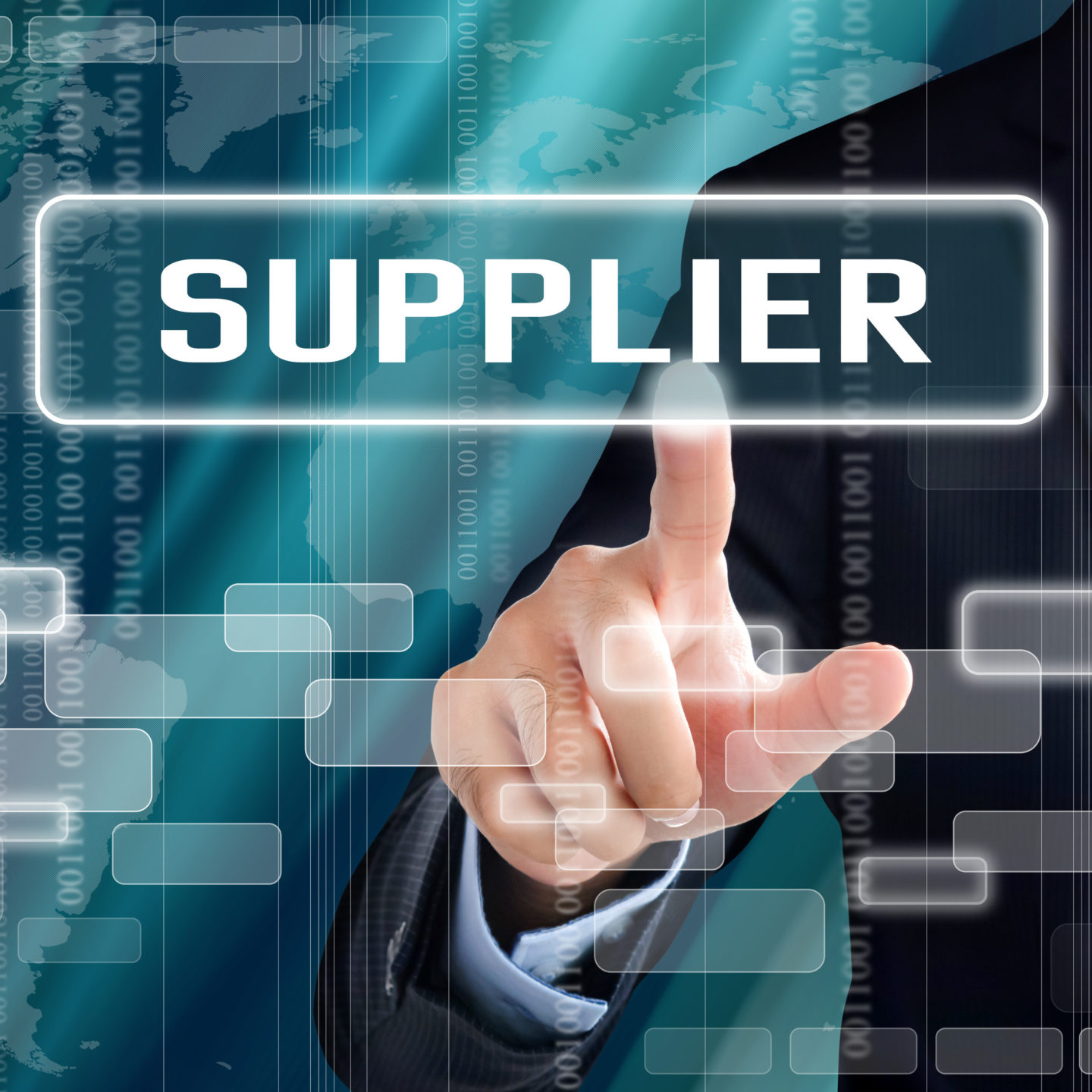 Supplier words on screen