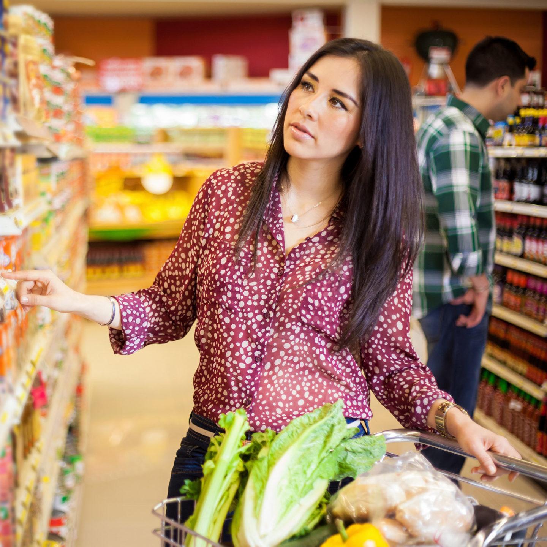 Woman shopping labels 26683577