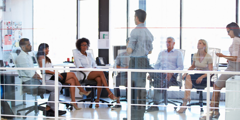 Business meeting in a modern office - Training for Regulators | NSF International