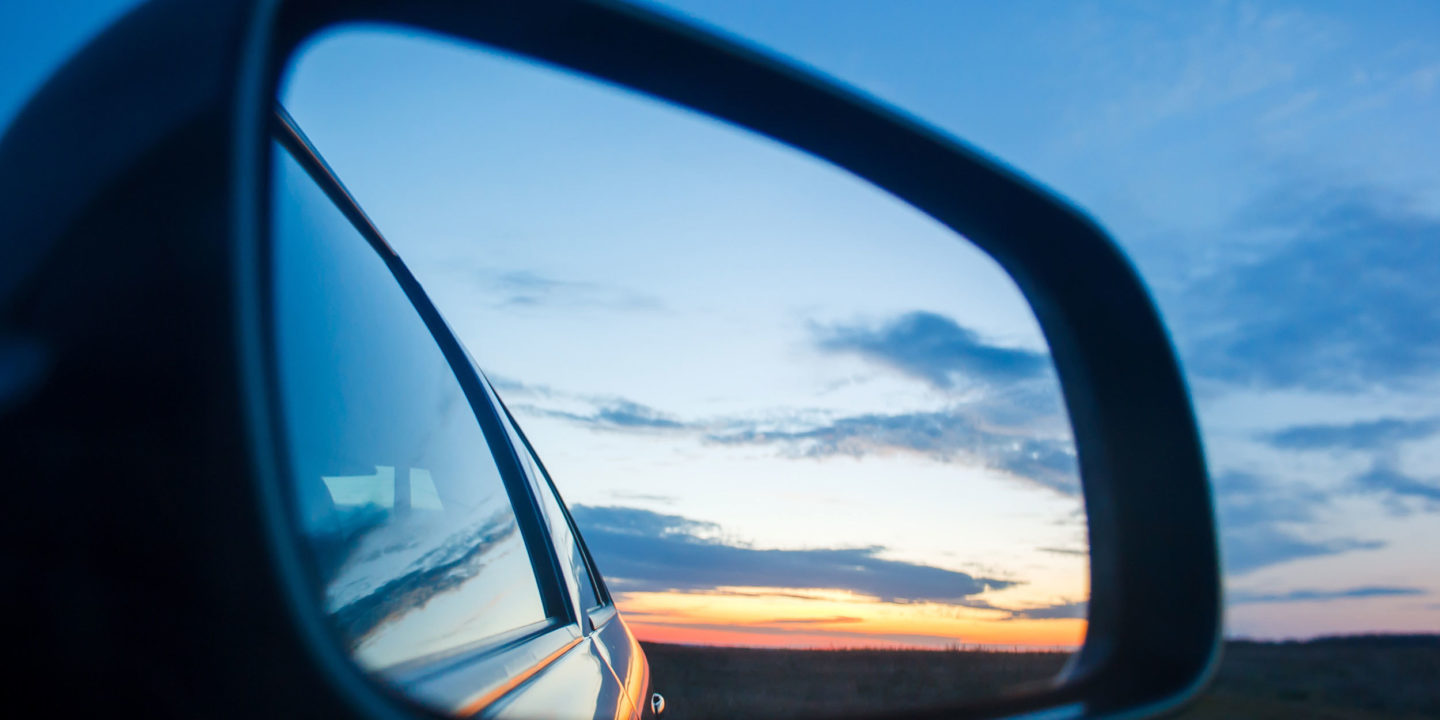 Blue Landscape Sunset Reflect in Car's Mirror - Automotive & Aerospace | NSF International