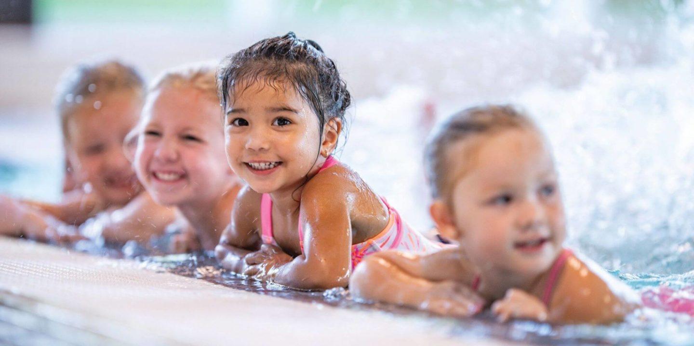 Children playing in pool - Hidden Dangers of Pool Drains   NSF International