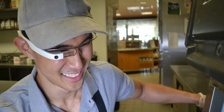 Eyesucceed man wearing Glass