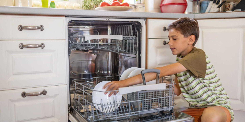 Kid loading dishwasher - Appliances, Pool and Hot Tubs | NSF International