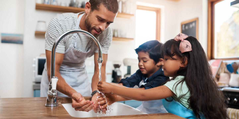 Kids handwashing 1163904486