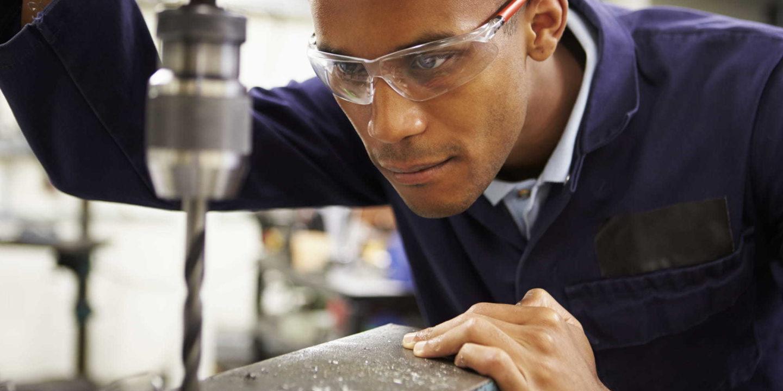 Man using Technicut Tool in factory - Technicut Tool (TCT) Utilizes QMS to Remain Agile   NSF ISR