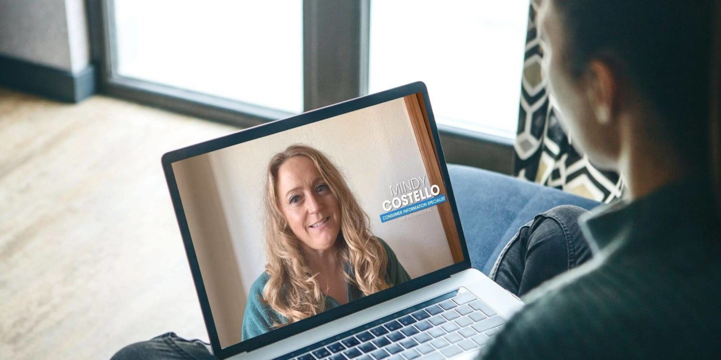 Mindy Costello on MacBook screen - Inside NSF: Meet Our Consumer Information Specialist   NSF International