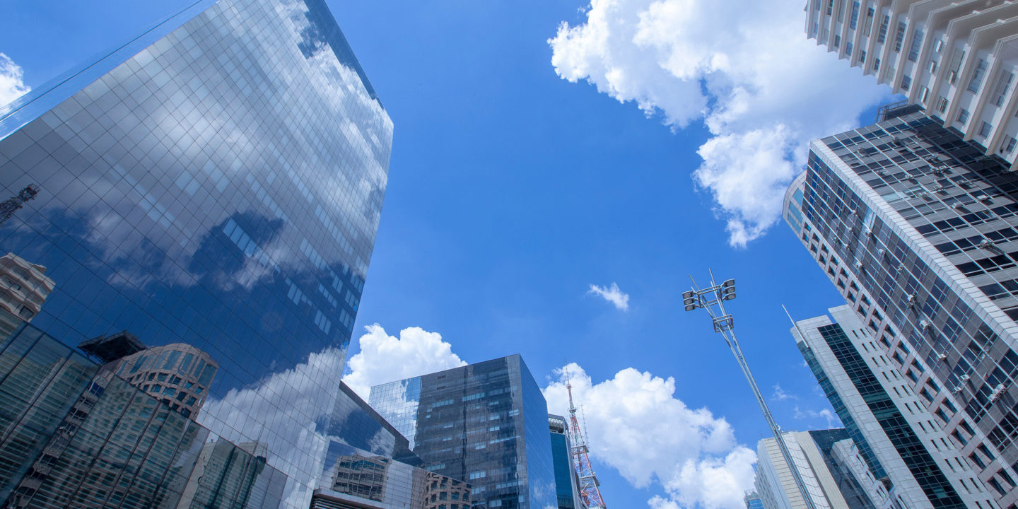 View of skyscrapers on a sunny day