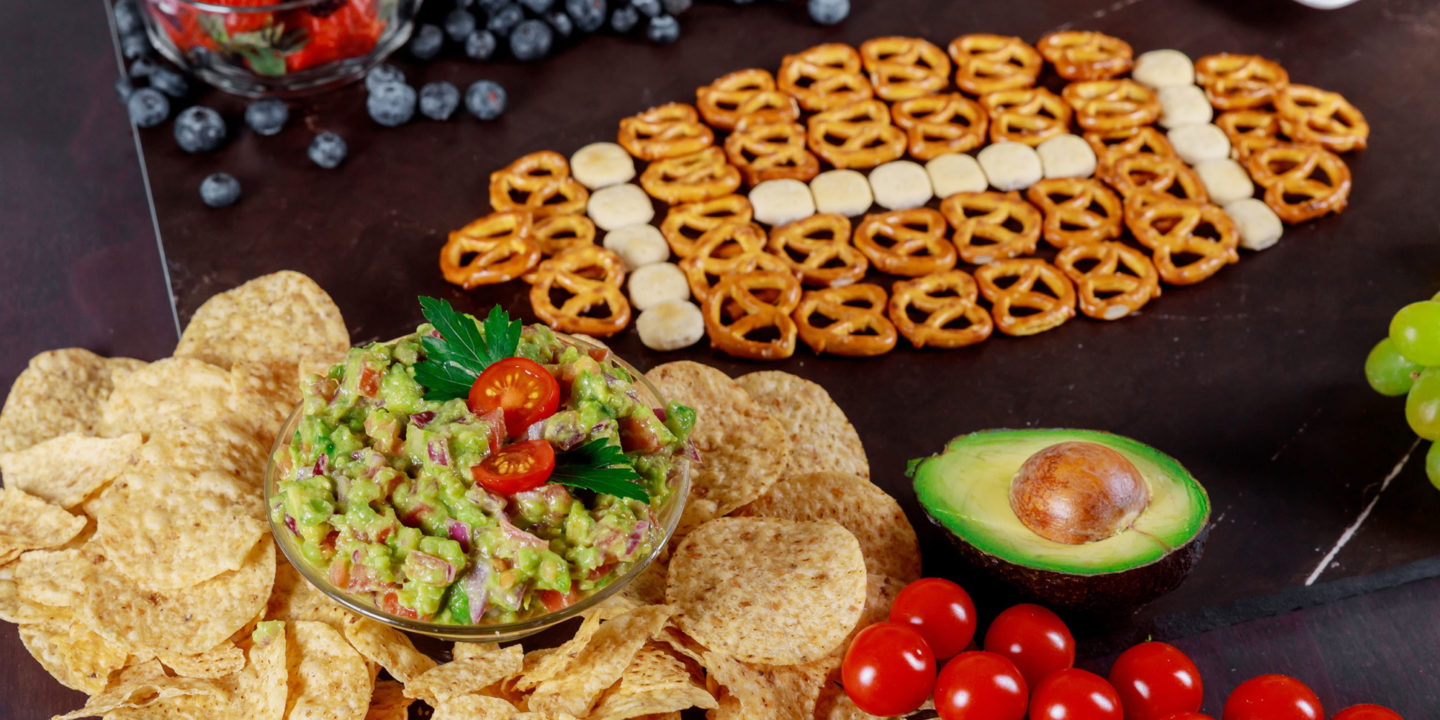 Snacks in the shape of a football