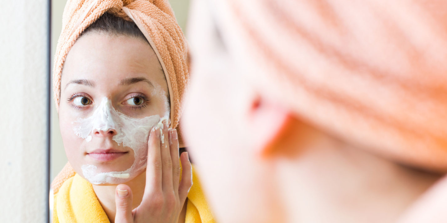Woman applying face cream - Cosmetics and Personal Care | NSF International