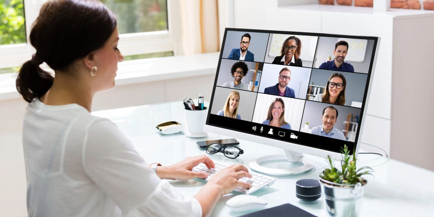 Woman in virtual meeting - The Five Essential Elements of Operational Learning in Biopharma | NSF International