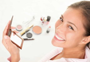 Women having fun with make-up products - Unmasking Beauty Tips to Safely Get Your Makeup on Again | NSF International