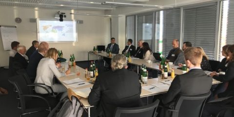 Medical device industry leaders gathered at the new NSF International training center in Hamburg, Germany