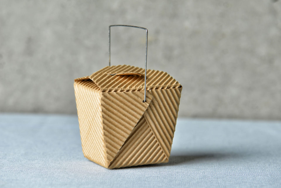 """Generic """"to go"""" box made of recycled brown cardboard"""