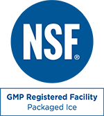 GMP Registered Facility - Packaged Ice Mark