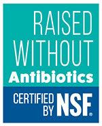 NSF Raised Without Antibiotics certification mark
