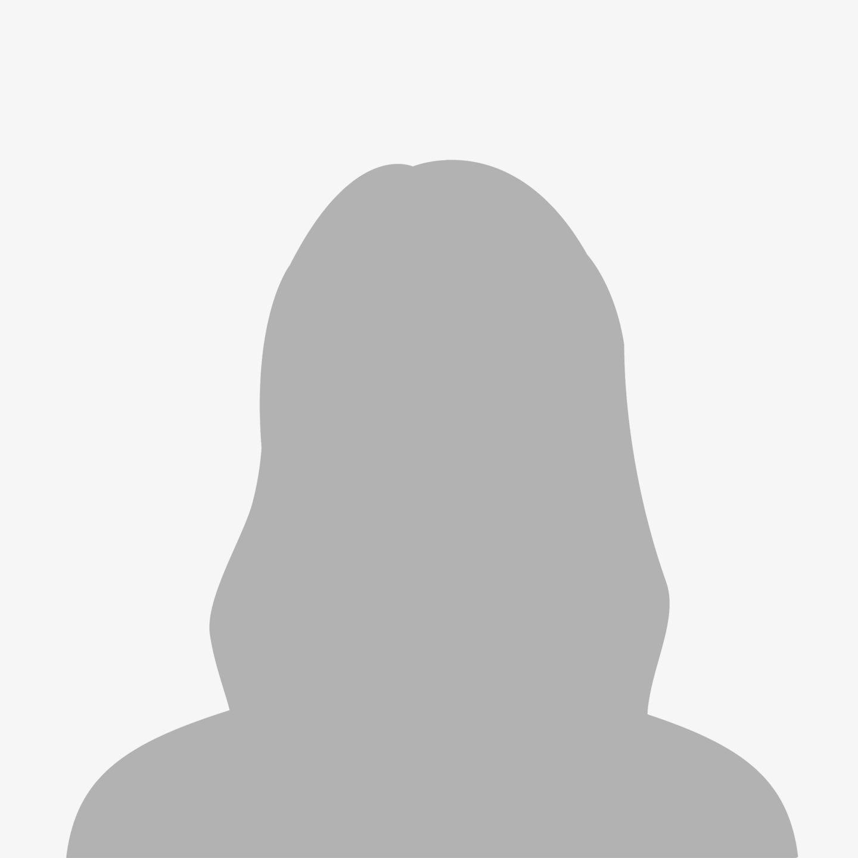 Female avatar with light grey background
